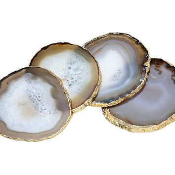 S/4 Natural Agate Coasters
