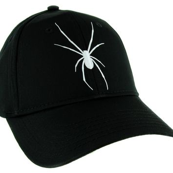 Halloween Black Widow Spider Hat Baseball Cap Scary Alternative Clothing Snapback …
