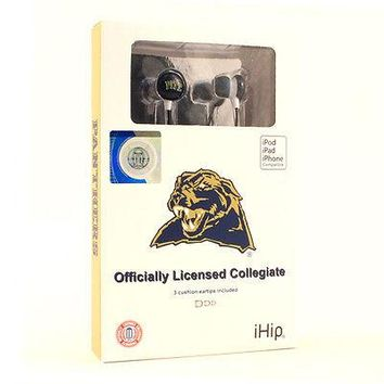 PITTSBURGH PANTHERS IHIP HI-FI PREMIUM NOISE-ISOLATING EAR BUDS EARPHONES NEW