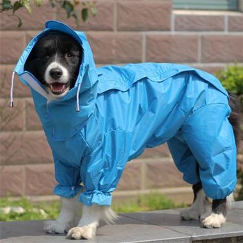 Large Dog Raincoat Clothes Waterproof Rain Jumpsuit For Big Dogs Golden Retriever Outdoor Pet Clothes WLYANG