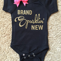 Brand Sparklin' New Onesuit - Glitter Onesuit - Onesuit - Ruffles with Love - Girls Onesuit