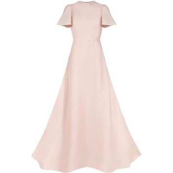 Valentino Flare Sleeve Silk Gown