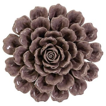 Aurora Flower Decorative Wall Sculpture - Purple