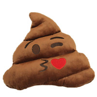 Funny Decorative Emoji Pillows Cute Poop Stuffed Toy Doll Cushion