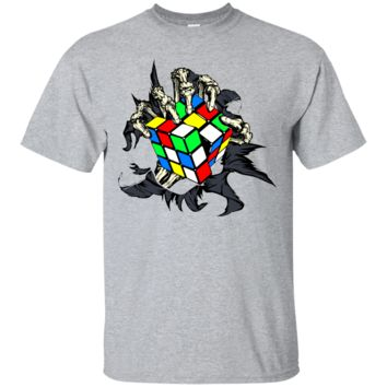 Rubik's Cube Skeleton Hand Novelty T Shirt