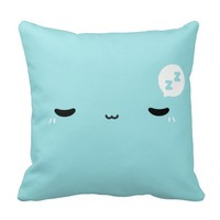 Kawaii Sleepy Face Pillow