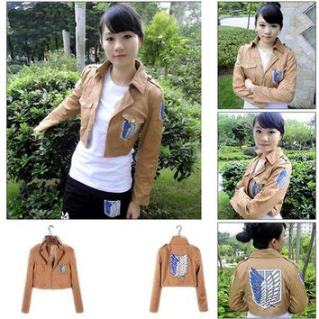 ac DCCKO2Q Cool cosplay Attack on Titan Shingeki no Kyojin Recon corps jacket coat costume