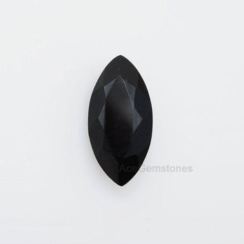 Black Onyx - Calibrated Cabochons - Wholesale - Loose Gemstone - Faceted Gemstone - Marquise 10x20 mm - AAA Grade High Quality - 1Pcs.
