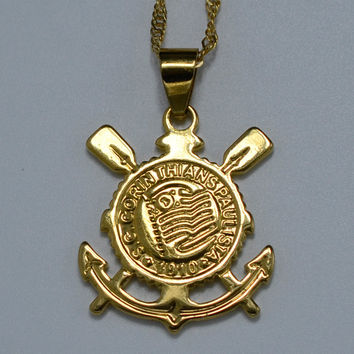 Sport Club Corinthians Paulista Flag Brazil Items - Gold Plated Necklace Pendants Jewelry With 45cm or 60cm Samll Chain