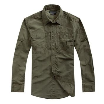 Men's Casual Military Shirt