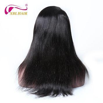 XBLHAIR 360 Lace Frontal Wigs For Black Women Straight Hair Natural Color Pre Plucked Natural Hairline Remy Hair Human Hair Wigs