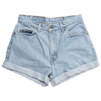 Rokit Recycled Levi's Blue Denim Shorts W30 | Shorts | Rokit Vintage Clothing