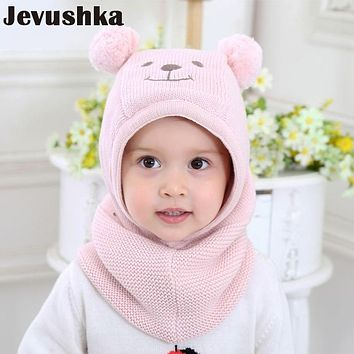 Winter Warm Knit Baby Girls and Boys Pompom Hat with Warm Fleece Lining Cute Bear Ears Hats for Kids Beanie Gorro