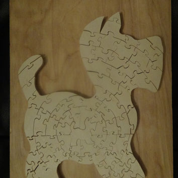 Wooden Scotty Dog Puzzle