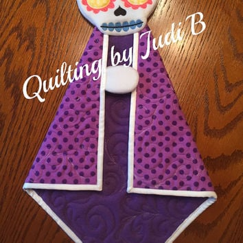 Maddy's Lovie Sugar Skull - Security Blanket - Baby Shower Gift - Choice of Colors!