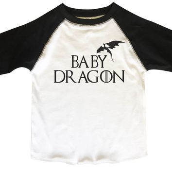 Baby Dragon BOYS OR GIRLS BASEBALL 3/4 SLEEVE RAGLAN - VERY SOFT TRENDY SHIRT B353