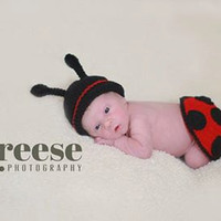 Crochet Lady Bug / Ladybird Photo Prop