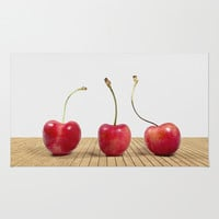 Cherries Area & Throw Rug by Dena Brender Photography