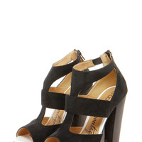 Boutique Amelia Cut Work Wooden Wedge