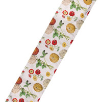 "Manual Woodworkers Gallic Rooster Floral 13x72"" Table Runner with 6-Pack of Tea Candles"