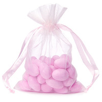 Pink Organza Candy Bags: 30-Piece Pack