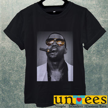 Low Price Men's Adult T-Shirt - Kanye West Smoking design