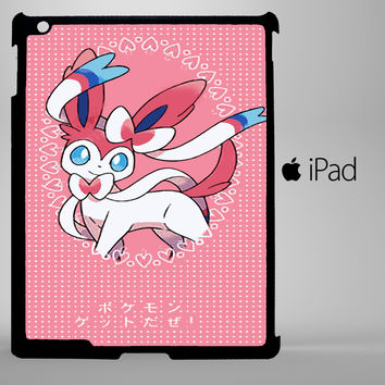Pokemon X Y SYLVEON Pink Cute Kawaii Polka Dot iPad 2, iPad 3, iPad 4, iPad Mini and iPad Air Cases - iPad