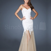 WowDresses — beautiful Lace Mermaid/Trumpet Sweetheart Floor Length Prom Dress