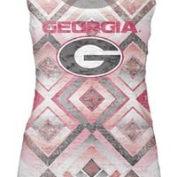 Georgia Bulldogs Women's Sublimated Burnout Tank Top | UGA Women's Tank Top | Georgia Bulldogs Women's Tank Top