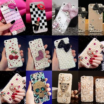 Glitter Rhinestone Case Cover For LG G5,Acrylic DIY Unique Diamond Protective Shiny mobile phone shell