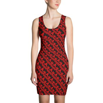 Pattern Crown Logo (Blood Red) Dress