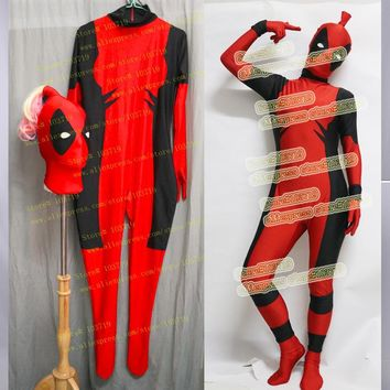 Lady Deadpool Costume Spandex Lycra Full-body Suit