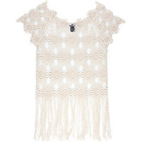 SAY WHAT? Crochet Womens Fringe Top 205332413 | Tops | Tillys.com