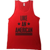 Like An American Mens Tank Top - usa t shirt love america native 4th of july tshirt fourth tee united states world war champs