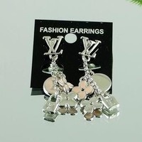 8DESS Louis Vuitton Women Fashion Chic Accessories Fine Jewelry Earrings