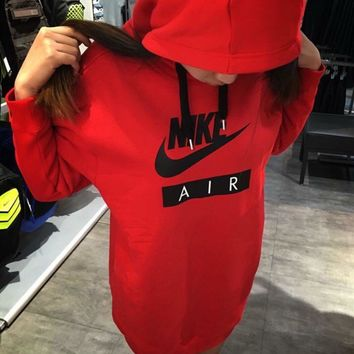 Nike Air Print Women Long section Pullover Hoodie