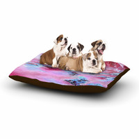 "Ebi Emporium ""Sea To Sky 3"" Pink Abstract Dog Bed"