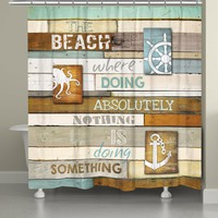 Beach Mantra Shower Curtain