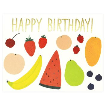 Fruits Birthday Card