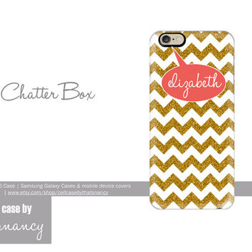 iPhone 6  Faux Gold Glitter Bubble | CHATTERBOX| iPhone 6  case| Samsung Galaxy|  Monogram Case