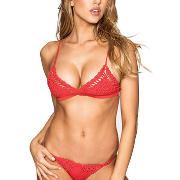 Frankies Bikinis Stella Top - Red