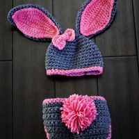 Baby Girl Bunny Hat Must See Too Cute Newborn Baby Boy Or Girl Crochet Bunny Hat/Diaper Cover Set Gift Newborn Crochet Hats Easter Set