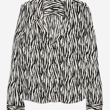Zebra Print Pyjama Shirt - New In Fashion - New In