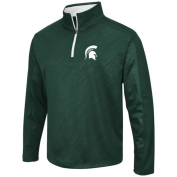 Michigan State Spartans Performance Fleece 1/4 Zip Track Jacket By Colosseum Athletics