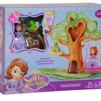 Disney's Sofia the First Forest Playset Works with Magical Talking Castle