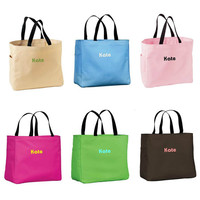 Addie Personalized Totes , Custom tote bag , Womens Gift ,Bridesmaid Gift Toe Bag , Monogrammed Tote ,Wedding Favors