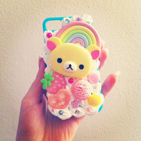 Kawaii Pinky Blue Sweets Korilakkuma iPhone 4/4S by BityKity