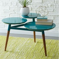 Clover Coffee Table – Bermuda/Pecan