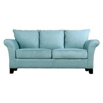 Handy Living Milan Sky Blue Microfiber Sofa - Sofas at Hayneedle