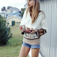 Daisy Tribal Hooded Sweater